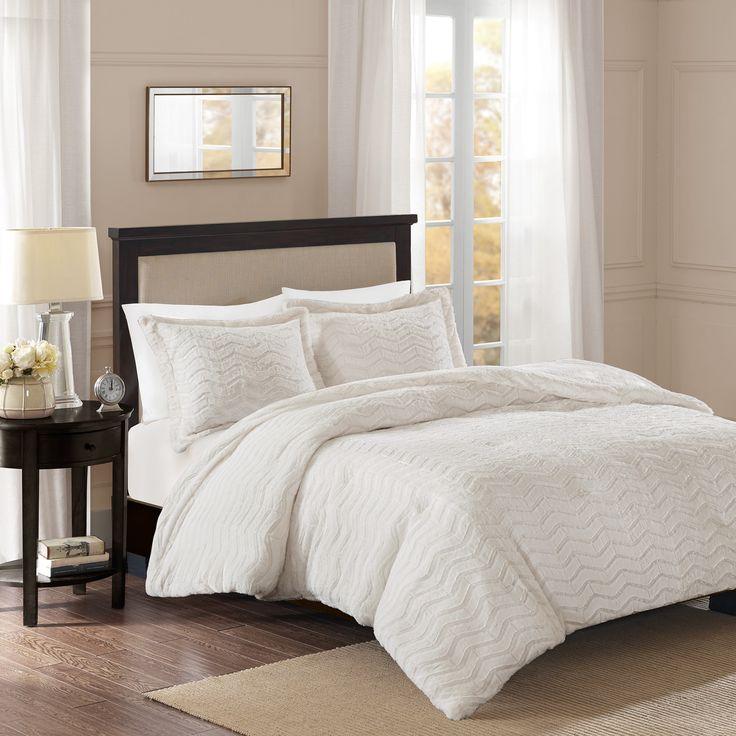 Premier Comfort Kaplan Brushed Long Fur Comforter Mini Set 2-Color Option