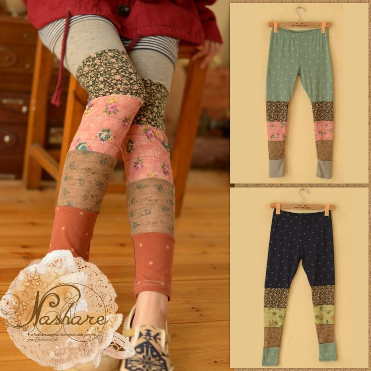 Nashare | Rakuten Global Market: Winter leggings spats pedicels Mori girl switch individualistic ♪ small floral leggings