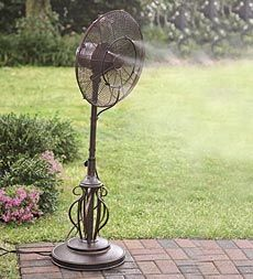 Thinking Ahead To Warmer Weather, A Deco Breeze Outdoor Misting Fan Might  Make A Perfect Gift For Someone Who Has A Backyard Deck.