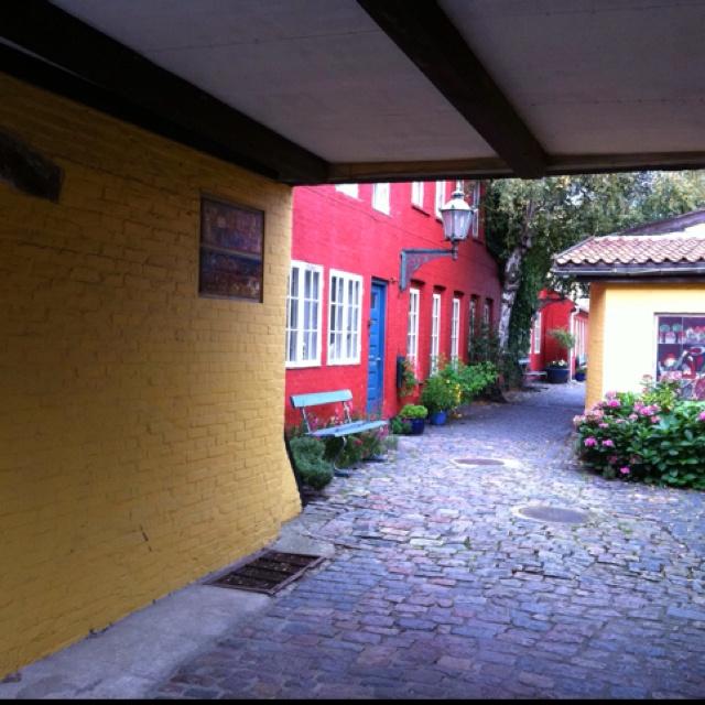 Courtyard in Rønne, Bornholm