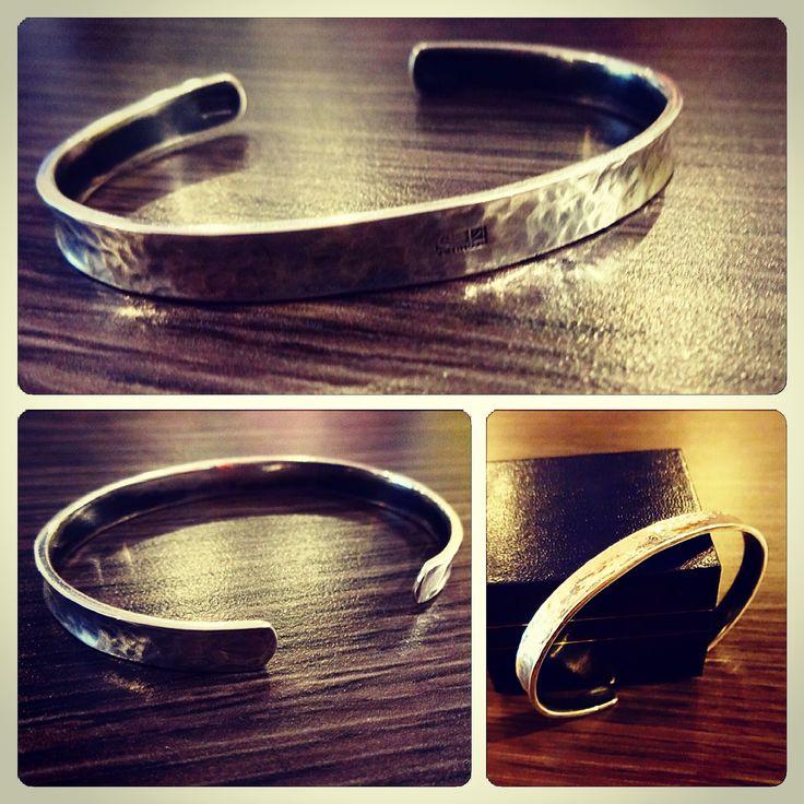 #Brazalete #pulsera esclava de Plata, diseño #rustico, #hechura #hechoamano #joyeria / Silver slave #bracelet, #rustic design, #hechura #handmade