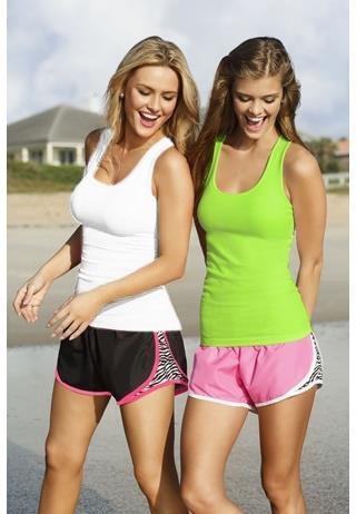 zebra print running shorts