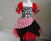 Custom Boutique Red Pirate skull tutu costume size 10 child. $56.99, via Etsy.