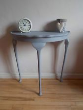 French Country Vintage Half Moon Hall / Side Table