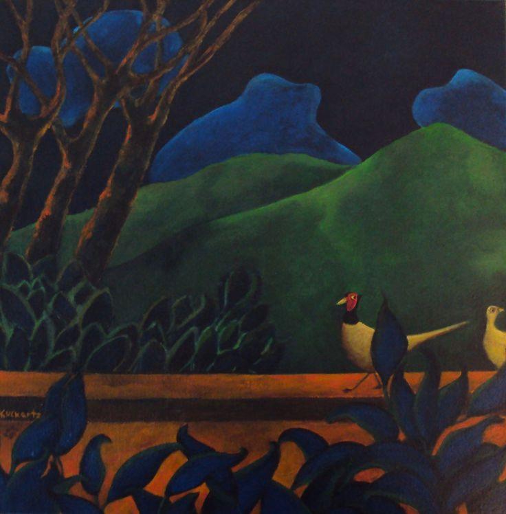 Night walk, acrylic on canvas, 2010, Angela Kuckartz