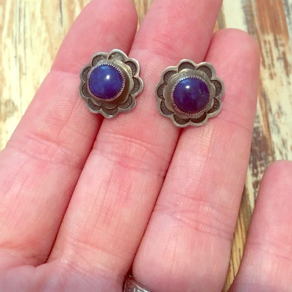 Don Lucas Blue Lapis Earrings These are beautiful blue lapis, stud back, and sterling silver. www.donlucas.com Boho Chic Don Lucas Jewelry Earrings