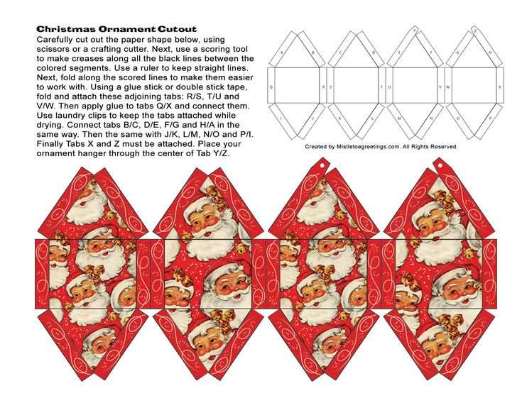113 best images about christmas on pinterest retro for 3d christmas decoration templates