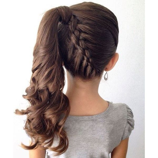 Great Stylish Braided Ponytail Hairstyles 2016 for Little Girls ❤ liked on Polyvore featuring hair and kids