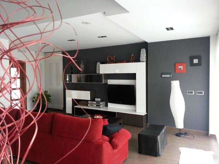 #Decoracion #Moderno #Sala de estar #Muebles de TV #Sofas #Estanterias #Lamparas #Accesorios #Taburetes