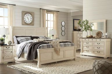 Best Bolanburg Two Tone 6 Pc Queen Louvered Bedroom Collection 400 x 300