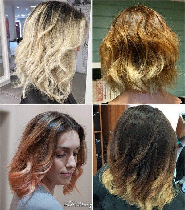 Модные градуированные стрижки на средние волосы  2017-2018 фото новинки
