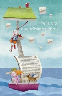 Leyendo podemos ser quienes queramos y llegar a lugares soñados. Ilustración de Mónica Carretero