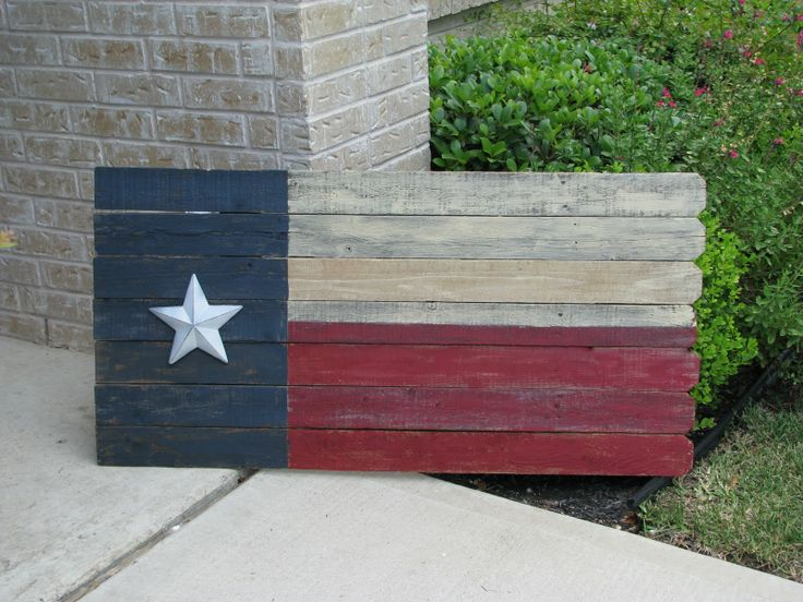 great use of old fence panels, may make a Texas Aggie one too!