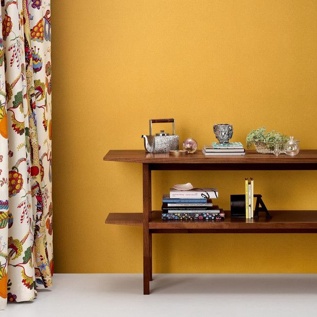Best Wallpaper Print Designs 2018 For Accent Wall Or Home Yellow Accent Walls Accent Walls In Living Room Chic Home Decor #yellow #accent #wall #living #room