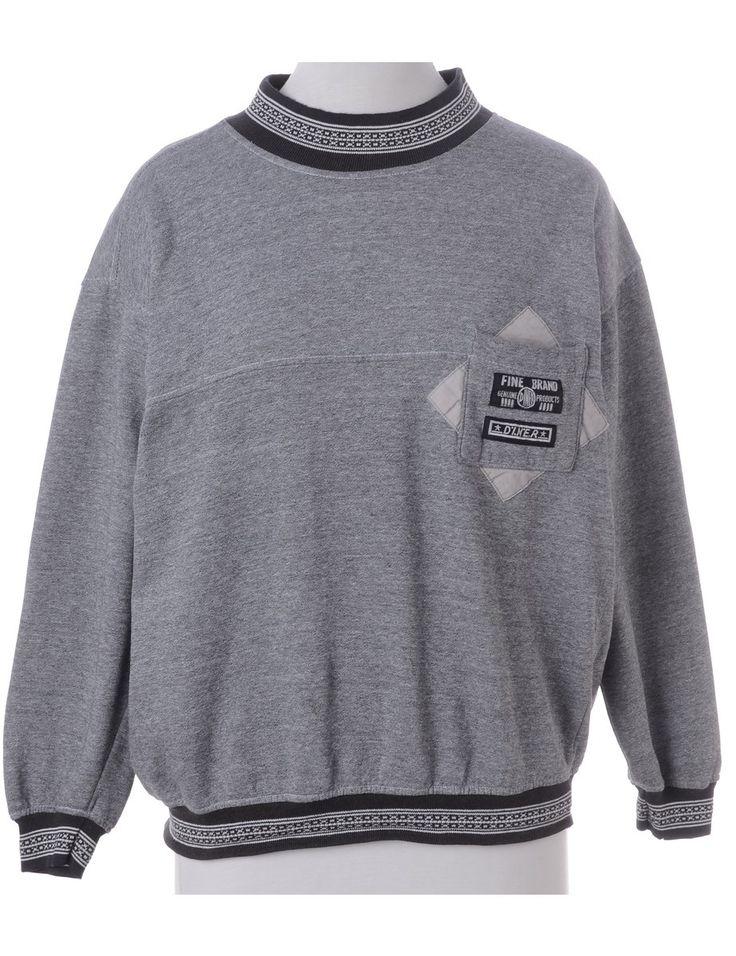 Dark Grey Plain Sweatshirt