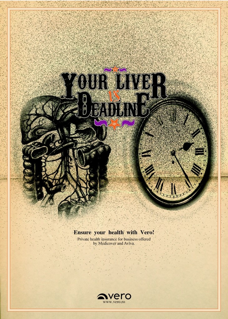 """Liver vs. Deadline - Ensure your health with Vero!"" Client: Vero Advertising Agency: CohnandJansen JWT, Romania"