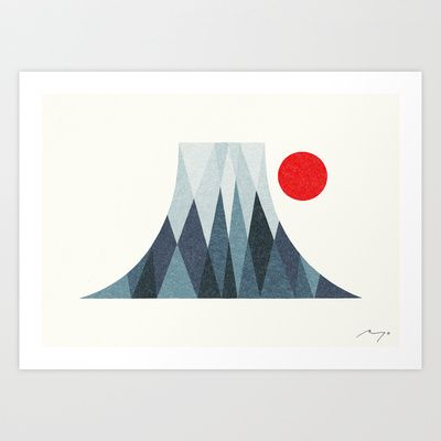 Mount Fuji Art Print by Ryo Takemasa - $27.04