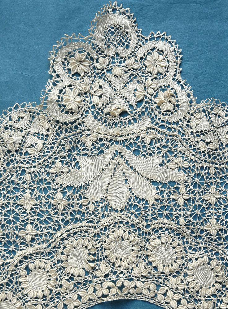 Details about Spectacular large antique/vintage silk Maltese collar