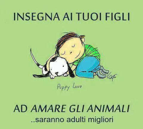 L'amore per gli animali.