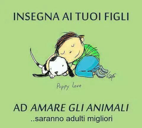 Teach your children to love animals...they'll be better adults. (Please, tell me about mistakes in translation...thanks)