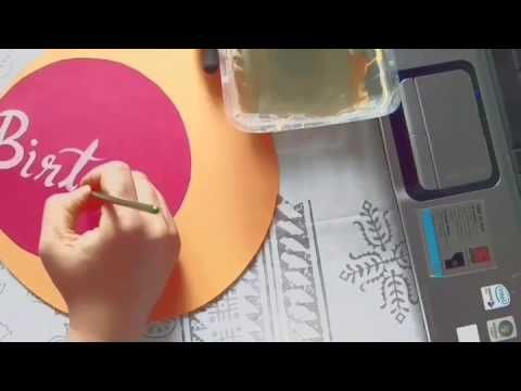 Process of making birthday craft decoration for my nephew's birthday. Materials: Cardboard, poster paint, gel pen. Brought from Itsy Bitsy.  https://artaurabynagashree.wordpress.com/ #paintpen #mandala #diy #diydecoration #acrylicpainting #boybirthdaydecoration #birthdaydeco #gauche #watercolor