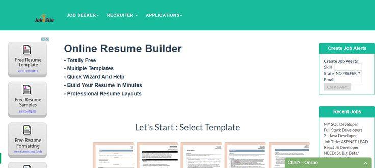 free #resume builder.. http://www.jobisite.com/freeResumeBuilder.htm
