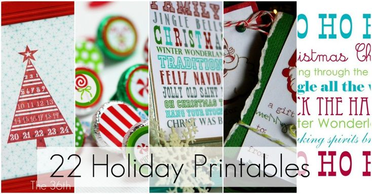 """Did you say 'free""""? Yes, please and thank you!22 Holiday, 22 Free, Free Holiday, Christmas Printables, Free Christmas, Christmas Holiday, Holiday Printables, Great Ideas, Free Printables"""