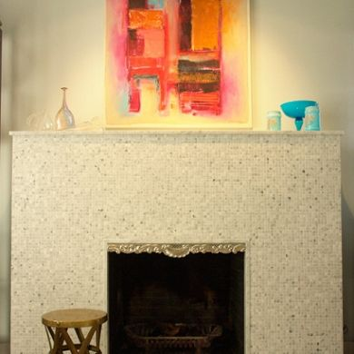 still thinking of my new fireplace...tile, stone, brick, hmm...