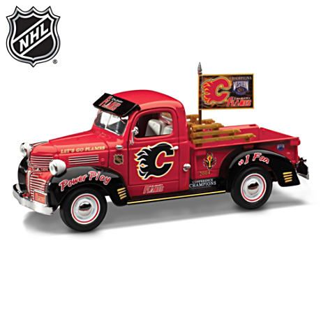 A superb recreation of a classic 1947 Dodge Pickup, it is proudly emblazoned from grille to back bumper with Calgary Flames® logos and slogans