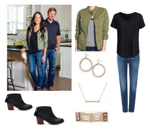 Joanna Gaines: Military Jacket by lauraloewen1221 on Polyvore