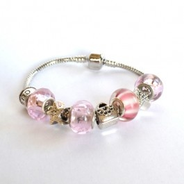 A Greek Goddess of affection, this piece is perfect for the favourite woman in your life. Yourself, your mama, sister, aunt, Bridesmaid, friend or Grandma, it expresses the joy of being female with a riot of pink and a filthy giggle. A truly happy bracelet.