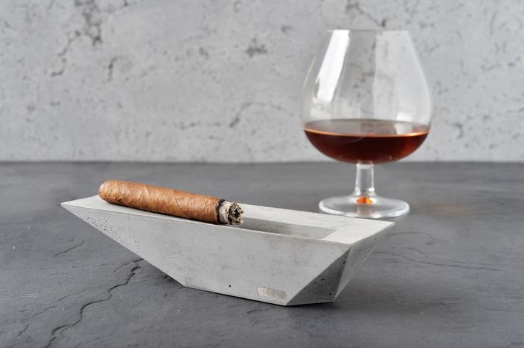 Concrete stylish ashtray by Gravelli in grey variant.