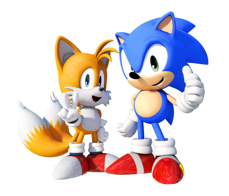 """Classic Sonic The Hedgehog And Classic Tails (Miles """"Tails"""