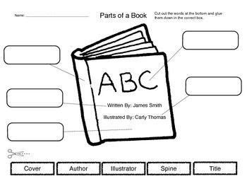 Worksheets Parts Of A Book Worksheet Kindergarten 100 best images about parts of a book on pinterest word search cut and label worksheet out the words at