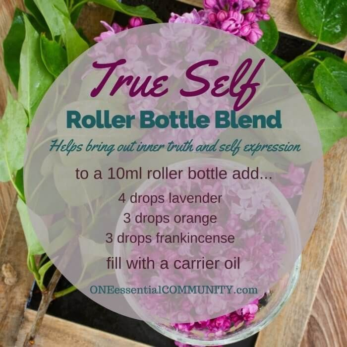 """""""true self"""" roller bottle blend helps bring out your inner truth and self expression-- LOVE this!! amazing find! there are tons of great roller bottle blends {and FREE super cute labels} for all kinds of emotions-- calm, focus, grounding, balance, gratitude, happy, energy, comfort, motivation, courage, confidence, cheer, creativity, and more!!"""