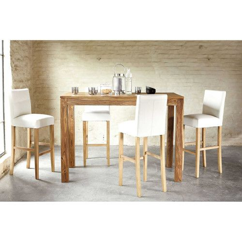 17 best ideas about table haute bois on pinterest table for Table salle manger massif