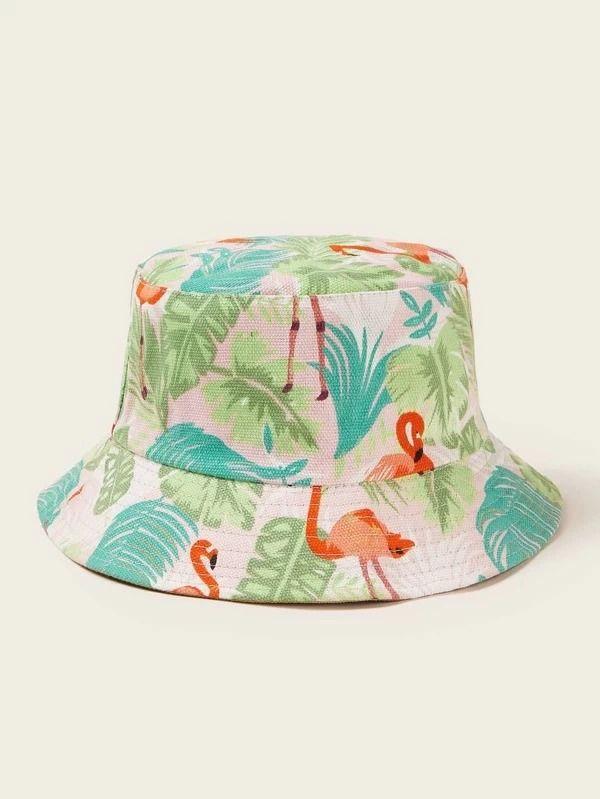 Affiliate Links Flamingo Pattern Bucket Hat Funky Hats Bucket Hat Fashion Flamingo Pattern