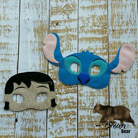 Lelo and stich inspired mask   photo booth props Party
