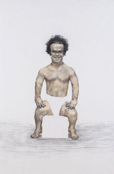 Gabor&Szerdi, hommage à fuzzy cupid,charcoal,oil,canvas,100x150cm,2014 on ArtStack #gabor-szerdi #art