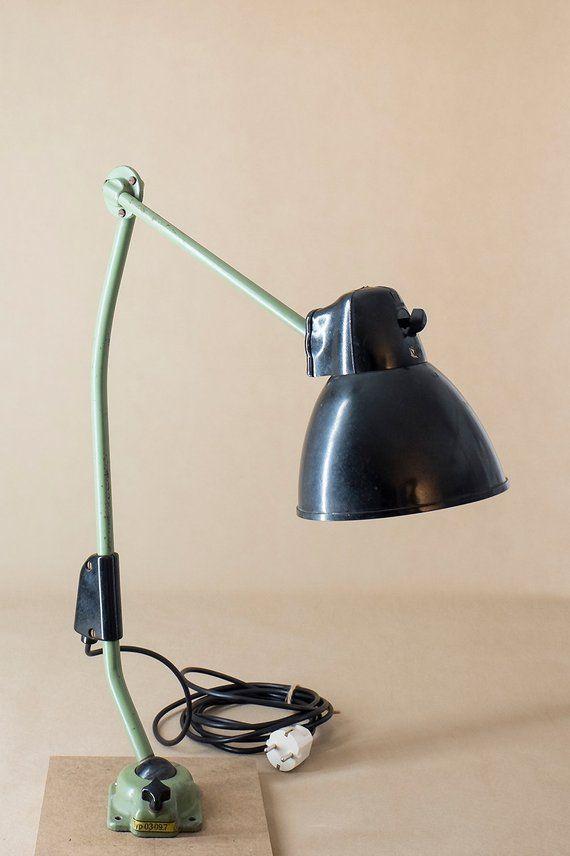 Vintage Industrielampe Lbl Vera Werkstattlampe Etsy Vintage Lamps Lamp Industrial Lamp