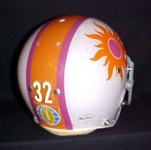 World Football League (mid-70s): An authentic, game-worn Southern California Sun helmet, from 1974.