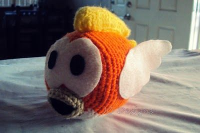 Cheep Cheep Mario Bros Amigurumi - Free Crochet Pattern