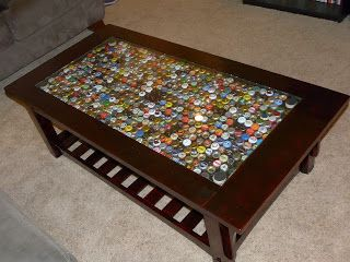 Good table for a bar man cave coffee table topped with for Man cave coffee table ideas