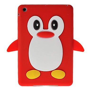 Cute 3D Cartoon Penguin Design Silicone Soft Skin Case Cover for iPad Mini--Cute 3D Cartoon Penguin Design Silicone Soft Skin Case Cover for iPad Minii is designed for iPad Mini. It is made of light but strong polymer. It is stain and scratch resistant. It offers great protection of your iPAD Mini without adding bulk.