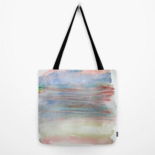 Bundle of Pastels Designer tote bag with fine art by studioRS