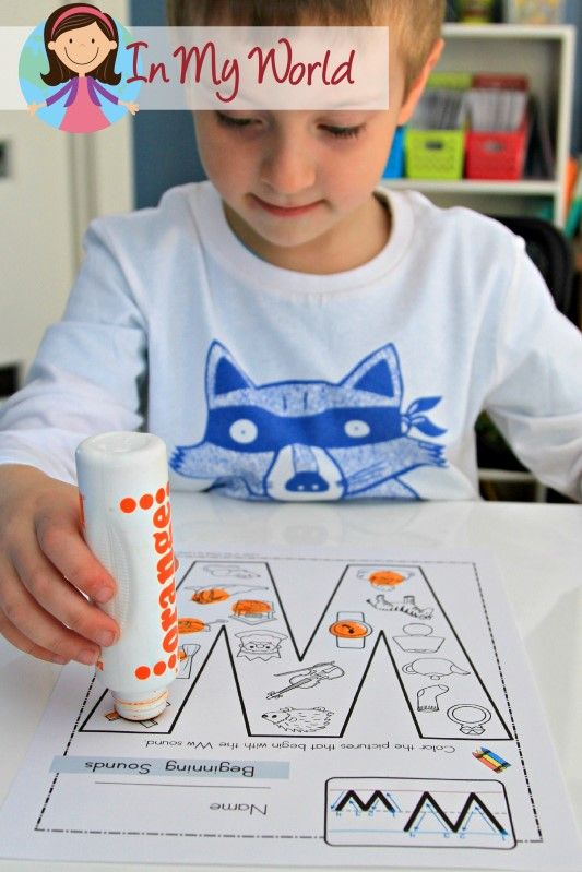 Letter W FREE Beginning Sounds activity page. Laminate and use with dry erase markers.