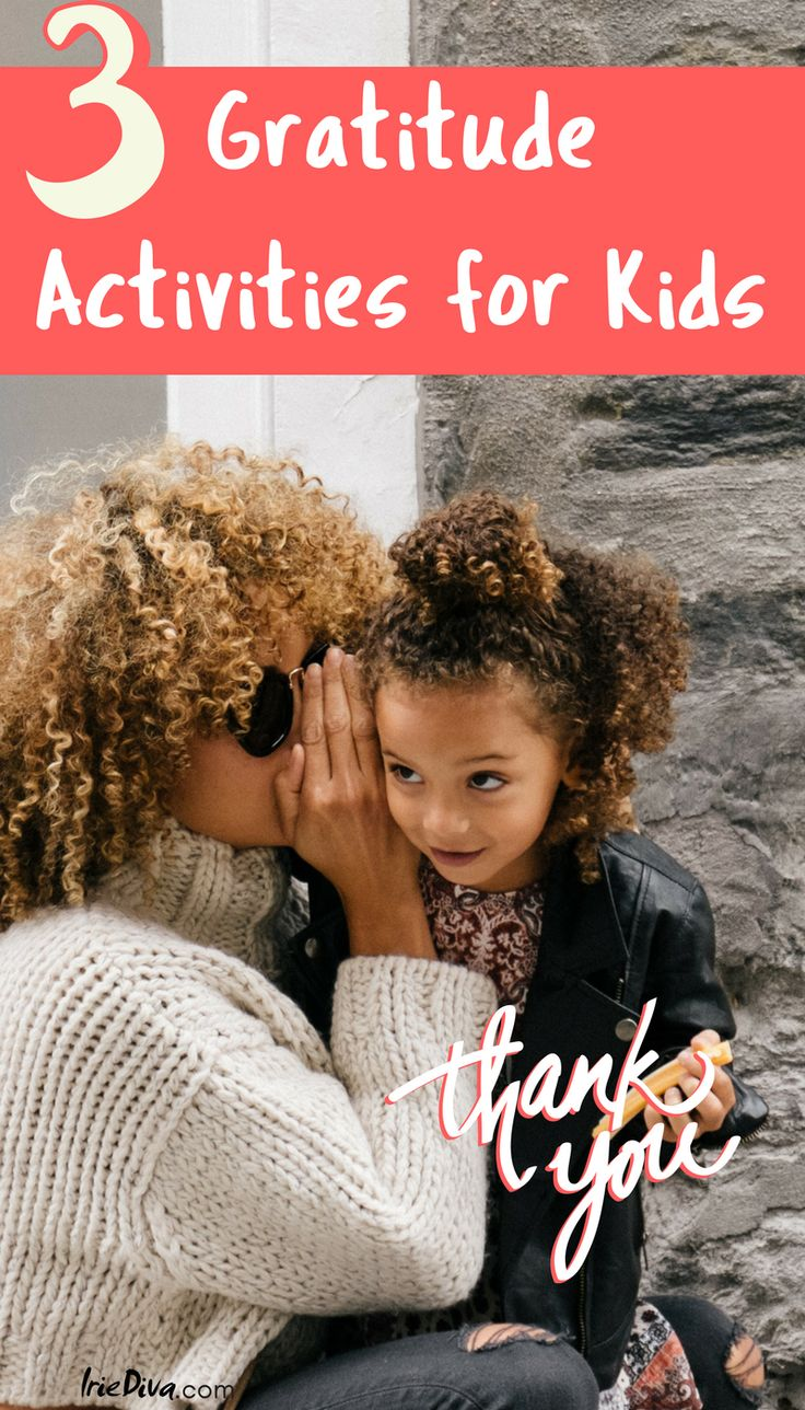 Three gratitude activities for kids and adults like to practice thankfulness everyday.