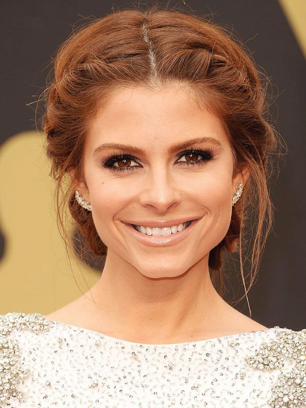 Maria Menounos with a Middle Part updo. I wanna do this for Sunday!