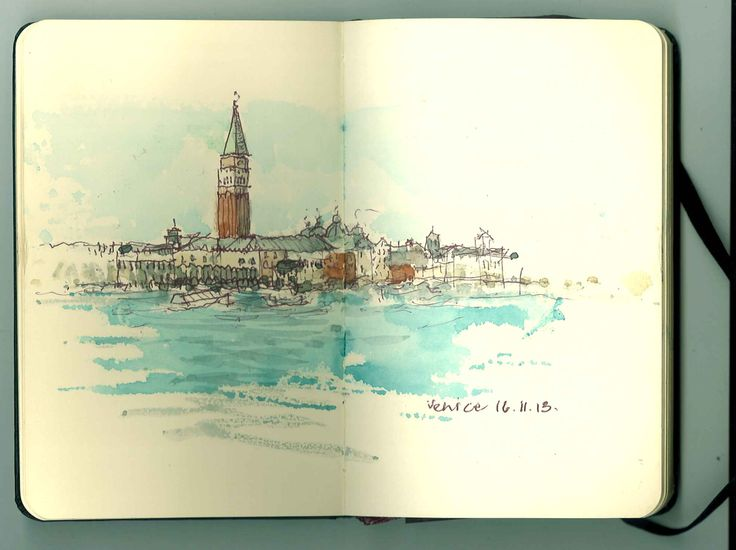 A view of San Marco I sketched on a trip to Venice in November 2013