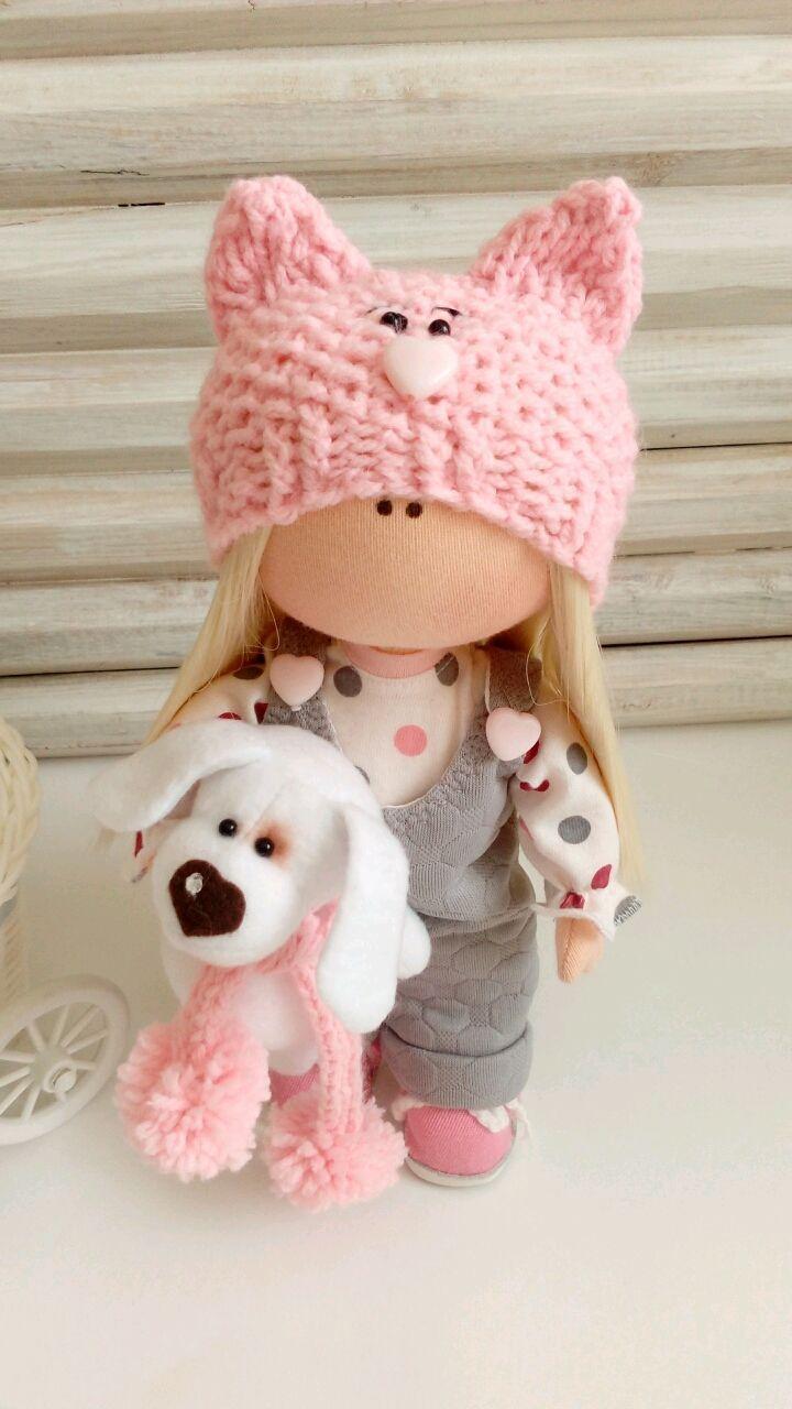 Купить Текстильная кукла - малышка. Кити - текстильная кукла, кукла ручной работы, кукла в подарок